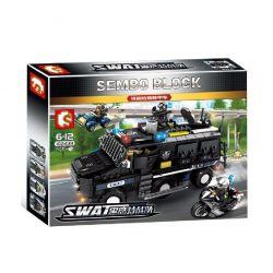 SEMBO 102438 Xếp hình kiểu Lego SWAT SPECIAL FORCE Black Eagle Special Police Explosion-proof Armored Vehicle Đội Cảnh Sát Đặc Nhiệm SWAT 705 khối