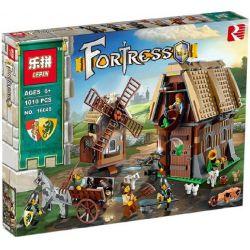 LEPIN 16049 Xếp hình kiểu Lego CASTLE Mill Village Raid Castle Mill Village Bảo Vệ Ngôi Làng Cối Xay Gió 663 khối