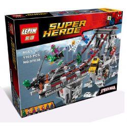 Lepin 07038 Sheng Yuan 840 SY840 (NOT Lego Marvel Super Heroes 76057 Spider-Man: Web Warriors Ultimate Bridge Battle ) Xếp hình Người Nhện Đại Chiến Các Kẻ Thù Trên Cầu 1165 khối