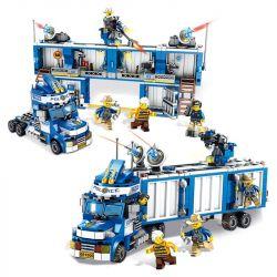 PanlosBrick 681006 Panlos Brick 681006 Xếp hình kiểu Lego Police Series Mobile Police Station Xe Cảnh Sát Di Dộng lắp được 2 mẫu 707 khối