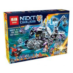 Lepin 14031 Sheng Yuan 867 SY867 Bela 10597 (NOT Lego Nexo Knights 70352 Jestro's Headquarters ) Xếp hình Trụ Sở Chỉ Huy Của Jestro 886 khối