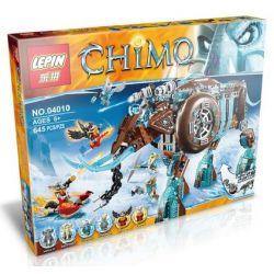 Bela 10297 Lari 10297 LEPIN 04010 Xếp hình kiểu Lego LEGENDS OF CHIMA Maula's Ice Mammoth Stomper Legend Of Qigong Ice Ice Machine, Queen Rô Bốt Voi Ma Mút Băng Của Maula 604 khối