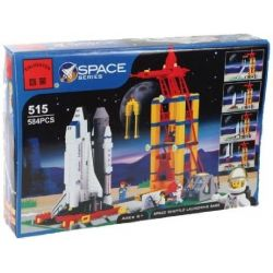 NOT Lego TOWN 6339 Shuttle Launch Pad Space Administration Launches Station Space Plane Launch Base , Enlighten 515 Qman 515 Xếp hình Bệ Phóng Tàu Vũ Trụ 584 khối