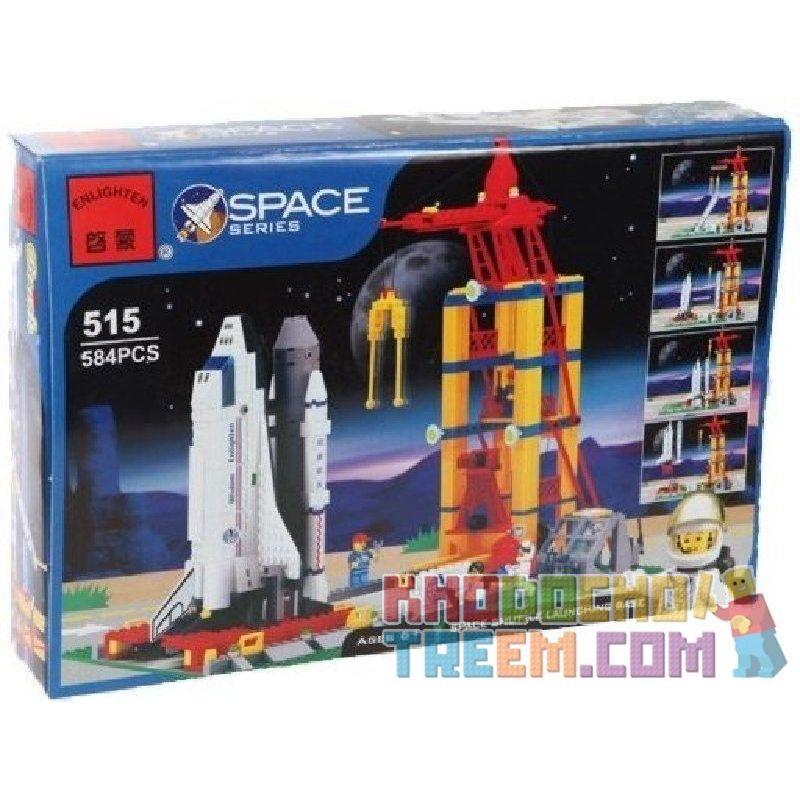 Enlighten 515 Qman 515 Xếp hình kiểu Lego TOWN Shuttle Launch Pad Space Administration Launches Station Space Plane Launch Base Bệ Phóng Tàu Vũ Trụ 584 khối