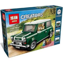 Lepin 21002 Bela 10568 Yile 002 (NOT Lego Creator Expert 10242 Mini Cooper Mk Vii ) Xếp hình Ô Tô Mini Cooper Xanh Lá 1077 khối