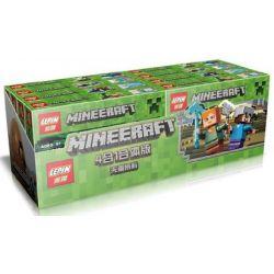 LEPIN 18006 Xếp hình kiểu Lego MINECRAFT My World Four-in-one Small Scene Nông Trại, Hầm Mỏ, Zombie 494 khối