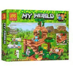 LELE 33198 Xếp hình kiểu Lego MINECRAFT My World Yhersra Tribe Tree House Thế Giới Sinh Tồn 493 khối