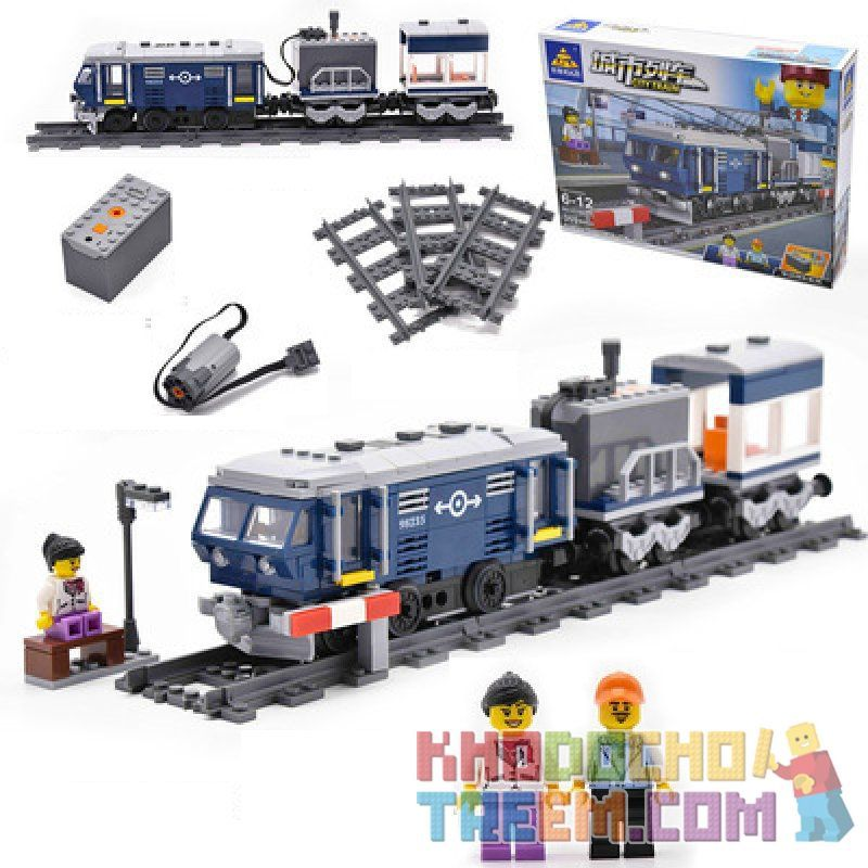 Kazi KY98235 98235 Xếp hình kiểu Lego TRAINS City Train Urban Train Dongfeng 11z-type Internal Combustion Locomotive (DF 11Z) (small) Đầu Máy Diesel DF 11Z 359 khối