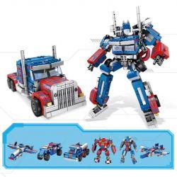 PanlosBrick 621018 Panlos Brick 621018 Xếp hình kiểu Lego TRANSFORMERS Robot 8in1 Deformation Robot Automobile Optimus Robot Biến Hình 8 Trong 1 lắp được 8 mẫu 833 khối