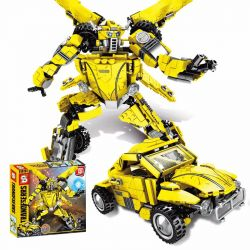 SHENG YUAN SY 1228 Xếp hình kiểu Lego TRANSFORMERS Deformation Robot Bumblebee Người Máy Biến Hình Bumblebee 2 Trong 1 lắp được 2 mẫu 693 khối