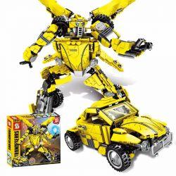 Sheng Yuan 1228 (NOT Lego Transformers Transformers People 2 In 1 ) Xếp hình Người Máy Biến Hình Bumblebee 2 Trong 1 lắp được 2 mẫu 693 khối
