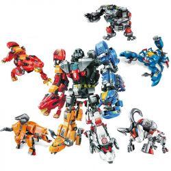 Enlighten 3601 3602 3603 3604 3605 Qman 3601 3602 3603 3604 3605 Xếp hình kiểu Lego TRANSFORMERS Nuclear Crystal Teenage 5 In 1 Deformation Robot Biến Hình gồm 4 hộp nhỏ lắp được 11 mẫu 1467 khối