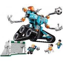 Enlighten 3003 Qman 3003 Xếp hình kiểu Lego TRANSFORMERS Super Soccer Century Football Iron Arm Thủ Môn Người Máy Biến Hình 345 khối