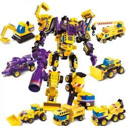 Enlighten 1401 (NOT Lego Transformers Creative Master ) Xếp hình Xếp Hình Chiến Thần 7 Trong 1 gồm 7 hộp nhỏ lắp được 8 mẫu 599 khối