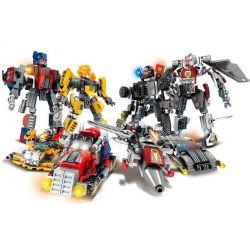 Sheng Yuan 1275 SY1275 (NOT Lego Transformers Transformers ) Xếp hình Bộ Lắp Ráp Người Máy Biến Hình Gồm Optimus Prime, Megatron, Bumblebee, Barricade gồm 4 hộp nhỏ lắp được 8 mẫu 352 khối