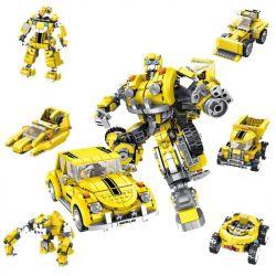 PanlosBrick 621019 Panlos Brick 621019 Xếp hình kiểu Lego TRANSFORMERS Robot 8in1 Deformation Robot Bumblebee Robot Biến Hình Bumblebee 8 Trong 1 lắp được 8 mẫu 1033 khối