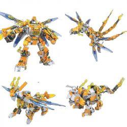Winner 8037 Xếp hình kiểu Lego TRANSFORMERS Sheame Red Refining War God Người Máy Biến Hình 4 Dạng Robot Khủng Long Bay Kỳ Lân Khủng Long Ba Sừng lắp được 4 mẫu 489 khối