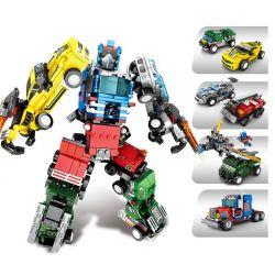 SEMBO 103225 103226 103227 103228 Xếp hình kiểu Lego TRANSFORMERS Mecha Of Steel Steel Machine Change King Kong Người Máy Biến Hình Kết Hợp 7 Loại ô Tô Thành Robot gồm 4 hộp nhỏ lắp được 8 mẫu 777 khố