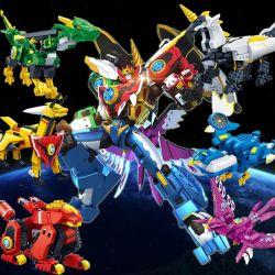 Banbao 7617 (NOT Lego Transformers God Beast King Kong ) Xếp hình 6 Con Thú Kết Hợp Thành Robot Khổng Lồ lắp được 14 mẫu 2126 khối