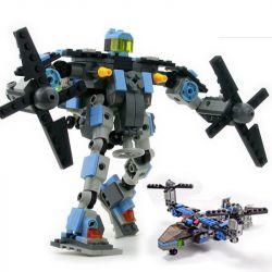 Kazi KY8020 8020 Xếp hình kiểu Lego TRANSFORMERS Helicopter Transformer Robot Robot Biến Hình Trực Thăng 245 khối