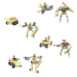 Gao Bo Le Gbl KY98111 (NOT Lego Transformers ) Xếp hình Người Máy Biến Hình Thành Máy Bay, Xe Tăng Và Xe Bọc Thép gồm 4 hộp nhỏ lắp được 8 mẫu 518 khối