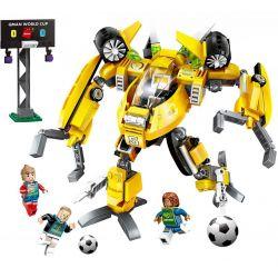 Enlighten 3004 Qman 3004 Xếp hình kiểu Lego TRANSFORMERS Super Soccer Century Football Shovel Người Máy Biến Hình đá Bóng 357 khối