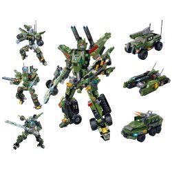 GUDI 8721 8722 8723 Xếp hình kiểu Lego TRANSFORMERS Transform Series Deformation Series Thunder War 3 Combination Pulse Warrior, Crossing Warrior, Blasting Warrior Bộ Xếp Hình Gồm 3 Người Máy Biến Hìn