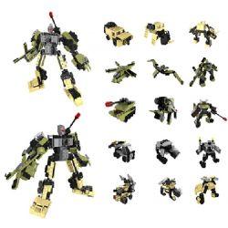 QIZHILE 5005 Xếp hình kiểu Lego TRANSFORMERS Những Phương Tiện Quân Sự Kết Hợp Thành Robot Cần Dịch 502 khối