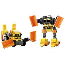 Kazi KY8018 8018 Xếp hình kiểu Lego TRANSFORMERS Challenger Rô Bốt Biến Hình Máy Xúc 161 khối