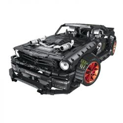 Lepin 20102 Qizhile 23009 Mouldking 13108 King 90070 Rebrickable MOC-22970 (NOT Lego Technic Ford Mustang Hoonicorn Rtr V2 ) Xếp hình Xe Đua Ford Mustang Hoonicorn Rtr V2 3330 khối