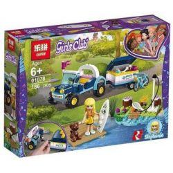 NOT Lego FRIENDS 41364 Stephanie's Buggy & Trailer, LARI 11198 LEPIN 01078 Xếp hình Stephanie's Buggy đại chiến Trailer 166 khối