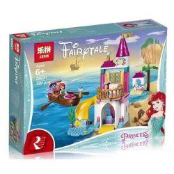 NOT Lego DISNEY PRINCESS 41160 Ariel's Castle, LARI 11175 LEPIN 25021 Xếp hình Lâu đài nàng tiên cá 115 khối