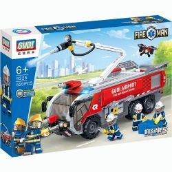 Gudi 9225 (NOT Lego City Fireman:airport Fire Truck ) Xếp hình Xe Cứu Hỏa 520 khối
