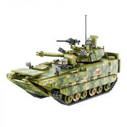 Panlosbrick 632007 (NOT Lego Military Army Zbd-05 Amphibious Infantry Fighting Vehicle ) Xếp hình Xe Thiết Giáp Đổ Bộ