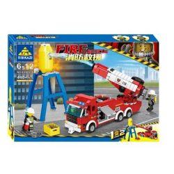 Kazi KY80518 80518 Xếp hình kiểu Lego FIRE RESCURE Fire Rescue Vortex High Angle Gun, Cleavage Rescue Vehicle 1 Change 2 Xe Vòi Rồng Phòng Không Turbojet, Xe Cứu Hộ Xác Tàu 1 đến 2 440 khối