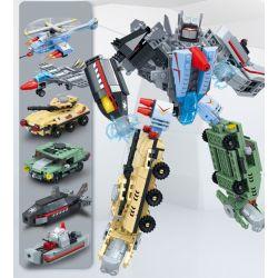 Gudi 8717 (NOT Lego Transformers Super Sentai ) Xếp hình Đội Hình Siêu Nhiên: Sáu Trong Một Thần, Bão Chiến Tranh Và Biệt Đội Phản Ứng Nhanh lắp được 7 mẫu 543 khối