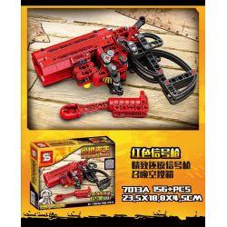 SHENG YUAN SY 7013 7013A 7013B 7013C 7013D SY7013 7013 Xếp hình kiểu Lego TECHNIC Súng phát tín hiệu PUBG trắng đỏ vàng xanh gồm 6 hộp nhỏ 156 khối