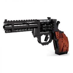 AUSINI 22511 Xếp hình kiểu Lego BLOCK GUN TOP GUN DISMOUNTING GUN SERIES MAGNUM REVOLVER Pistol Big Left Round Súng Lục Côn Xoay 300 khối