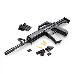 AUSINI 22607 Xếp hình kiểu Lego BLOCK GUN TOP GUN DISMOUNTING GUN SERIES M16 ASSAULT RIFLE Súng Trường M16 524 khối