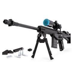 Ausini 22707 (NOT Lego Block Gun M107 Sniper Rifle ) Xếp hình Súng Ngắm Bắn Tỉa M107 527 khối