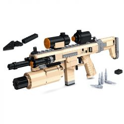 Ausini 22002 (NOT Lego Block Gun Assault Rifle Cz805 ) Xếp hình Súng Trường Cz805 767 khối