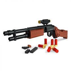 AUSINI 22804 Xếp hình kiểu Lego BLOCK GUN M870 Shotgun Súng shotgun M870 527 khối