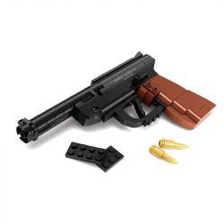 AUSINI 22419 Xếp hình kiểu Lego BLOCK GUN Ruger Mark III Pistol Súng Ngắn Bán Tự động 118 khối