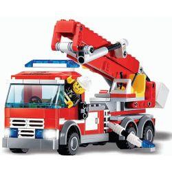 Kazi KY8053 8053 Xếp hình kiểu Lego GEAR Lady Liberty Key Chain Continental Fire Truck Xe Thang Cứu Hỏa 244 khối
