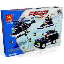 WANGE 040220 Xếp hình kiểu Lego POLICE Marine Police Force Đội tuần tra vùng biển 399 khối