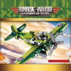 Sembo 704101 (NOT Lego Military Army British Spitfire ) Xếp hình Máy Bay Tiêm Kích 206 khối