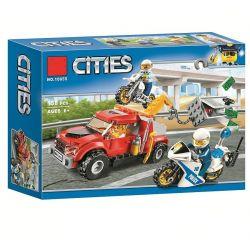 NOT Lego CITY 60137 Tow Truck Trouble, Bela 10655 Lari 10655 Xếp hình Đuổi bắt kẻ trộm xe tải 144 khối