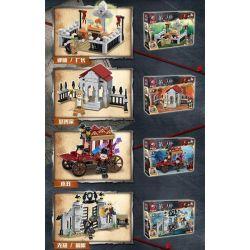 Tiger 48005 (NOT Lego Identity V Creepy Church ) Xếp hình 4 Nhà Thờ Trong Identity V gồm 4 hộp nhỏ lắp được 4 mẫu 695 khối