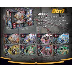 Tiger 48006 (NOT Lego Identity V 8 Hunters ) Xếp hình Những Kẻ Đi Săn Trong Identity V lắp được 8 mẫu 379 khối
