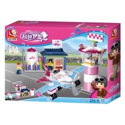 SLUBAN M38-B0608 B0608 0608 M38B0608 38-B0608 Xếp hình kiểu Lego GIRL'S DREAM Fantasy Flying Club Dolphin Bay Pink Dream Dolphin Bay Airport Câu Lạc Bộ Bay 284 khối